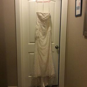 White by Vera Wang Dresses - White by Vera Wang Strapless Lace Wedding Dress